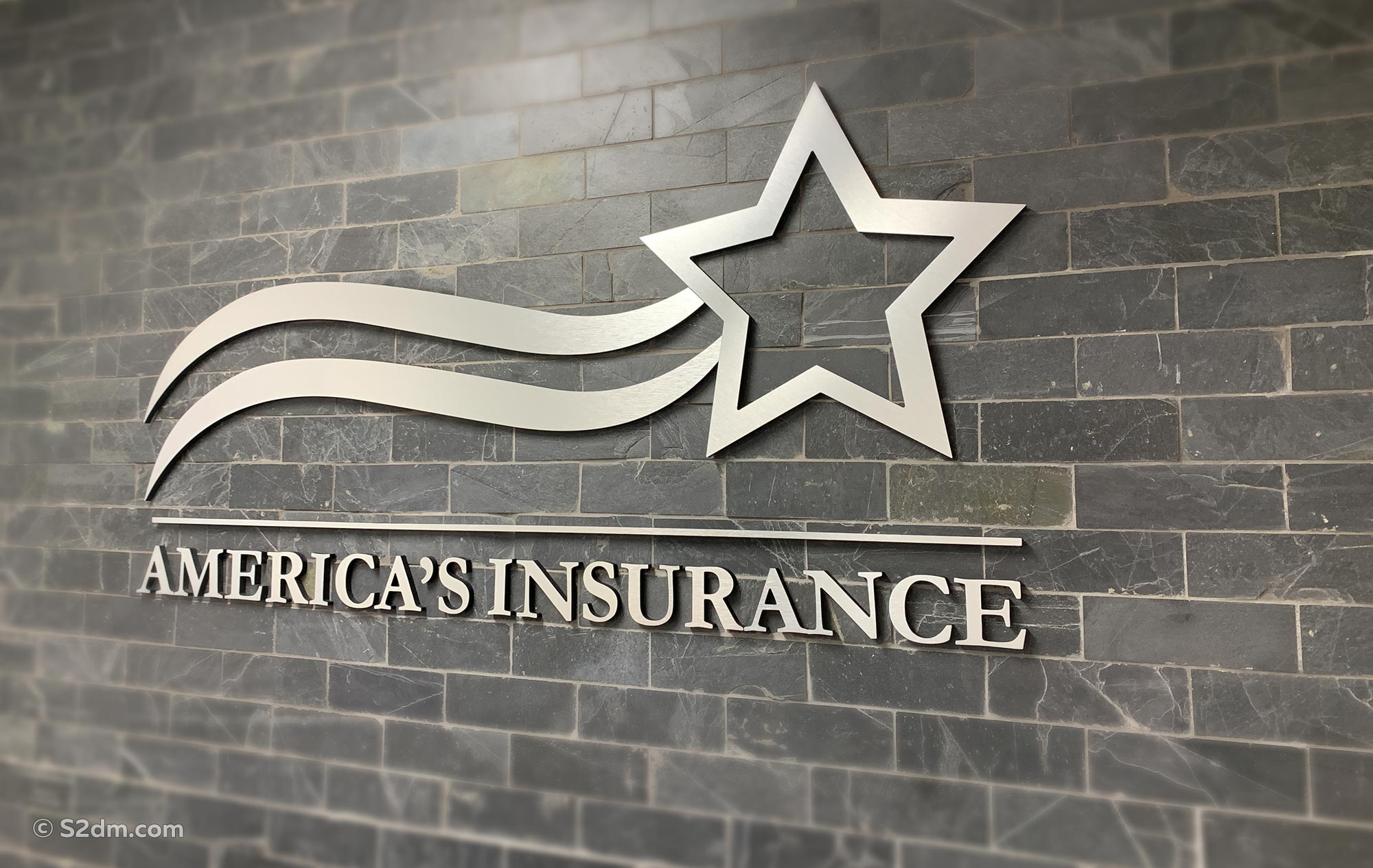 America's Insurance wall sign