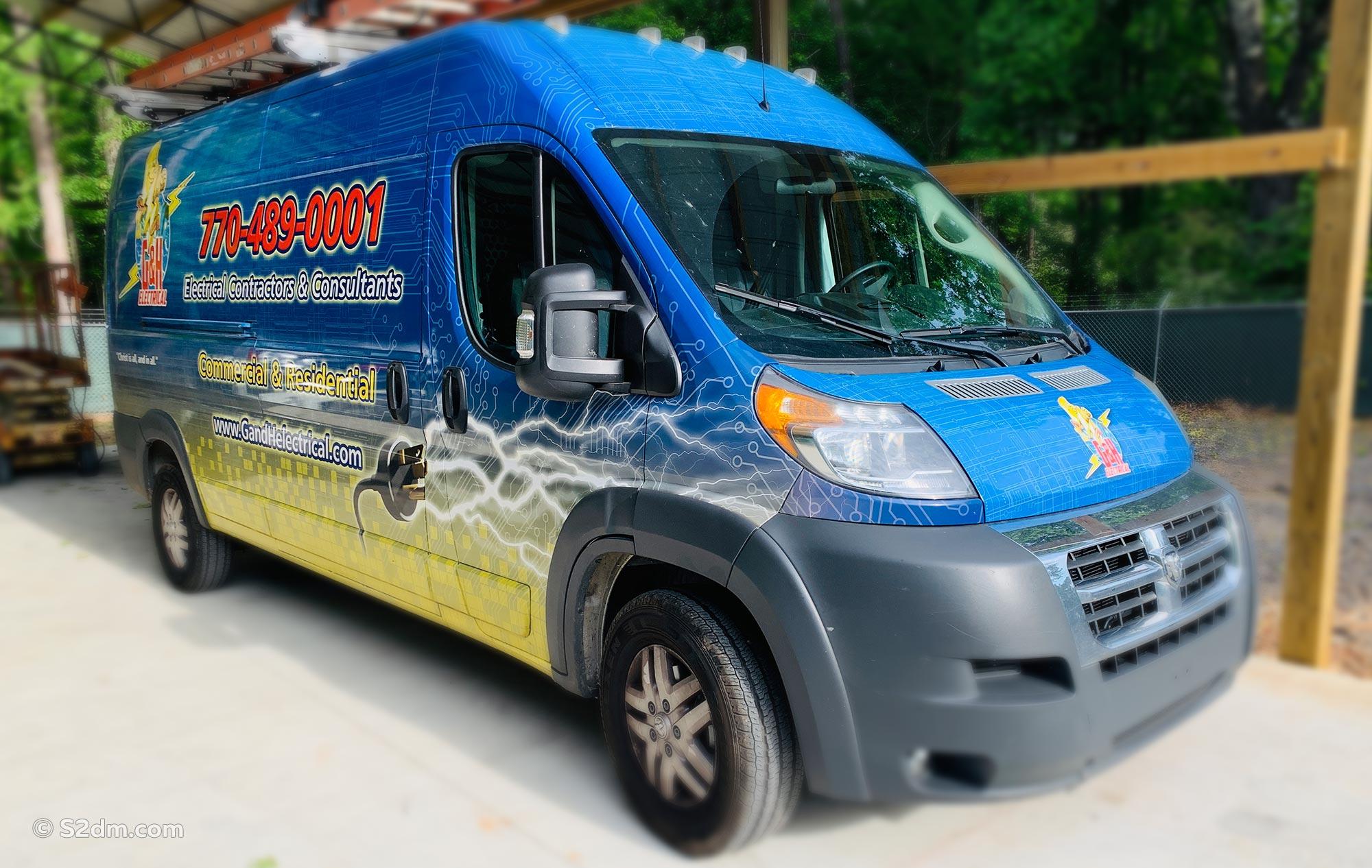 Vehicle wrap Dodge Van