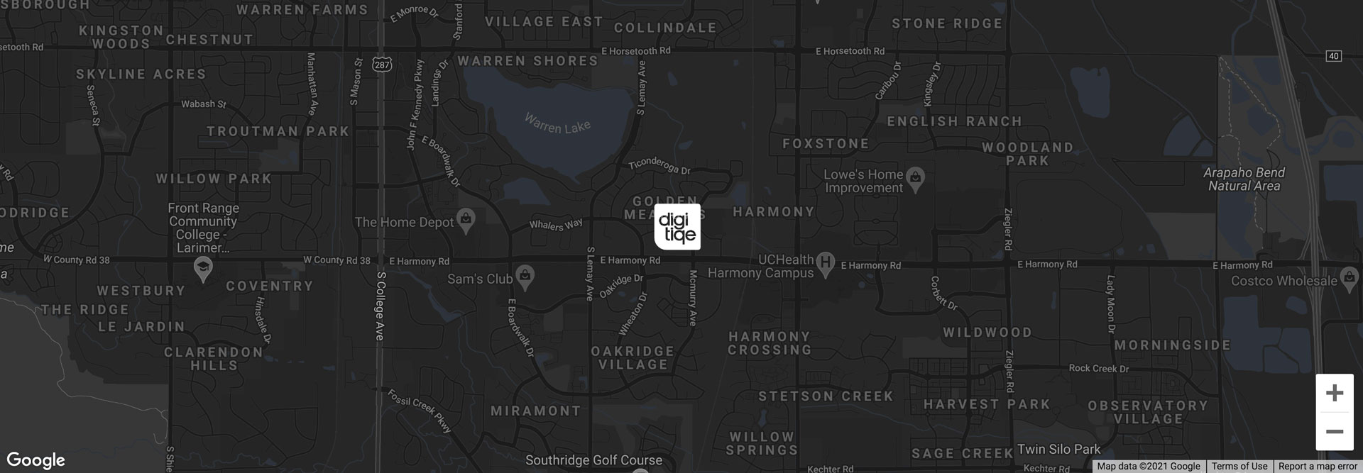 Fort Collins Location on Map. Your location for iPhone, Apple and Mac repair.