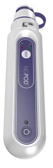 Product Image of the NGPod Handheld device.