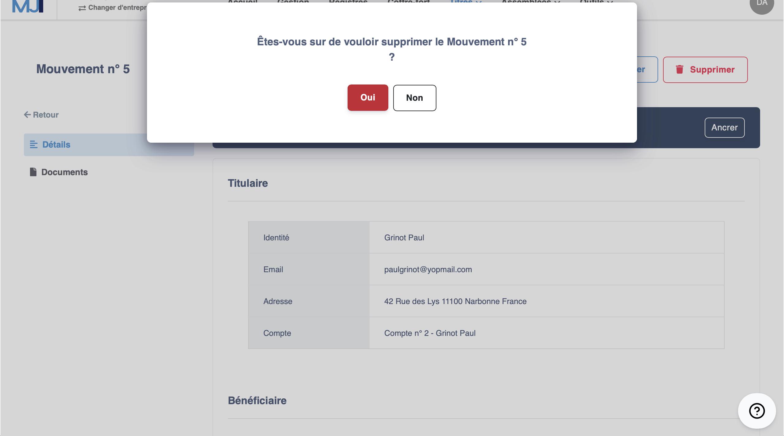 Illustration guide d'utilisation solution MonJuridique.infogreffe