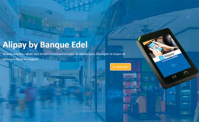 Paiement : Alipay s'allie à la Banque Edel en France