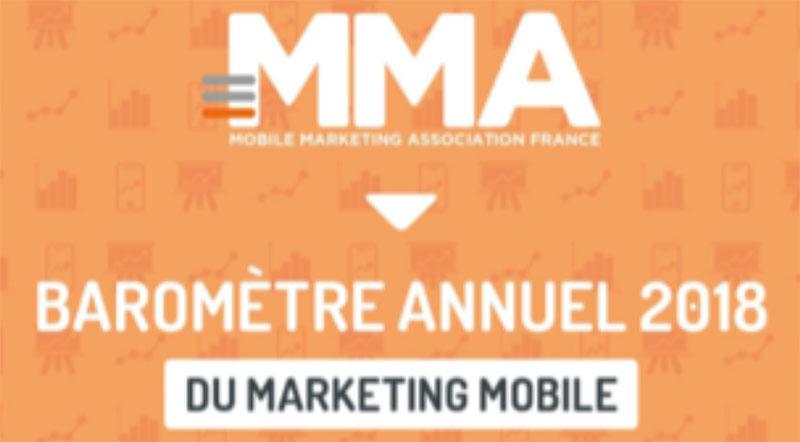 Infographie baromètre 2018 Mobile Marketing Association
