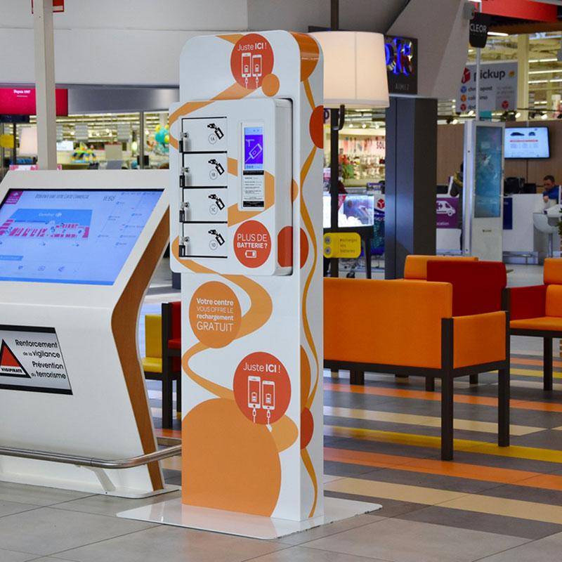 Borne Smart Plus centre commercial