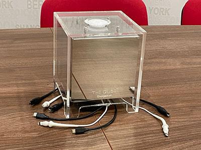 Chargeur Qube salle de réunion