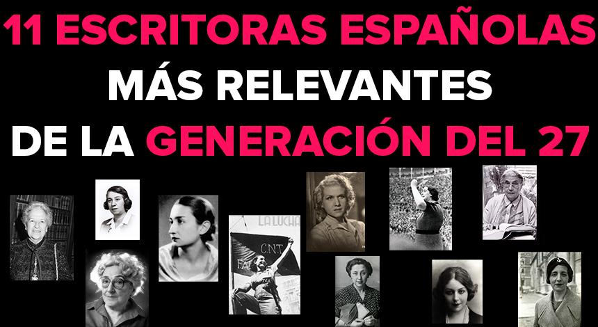 11 Escritoras españolas más relevantes de la Generación del 27