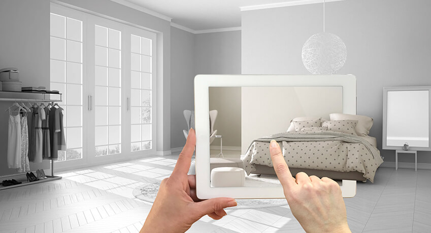 Placing virtual furniture in your space