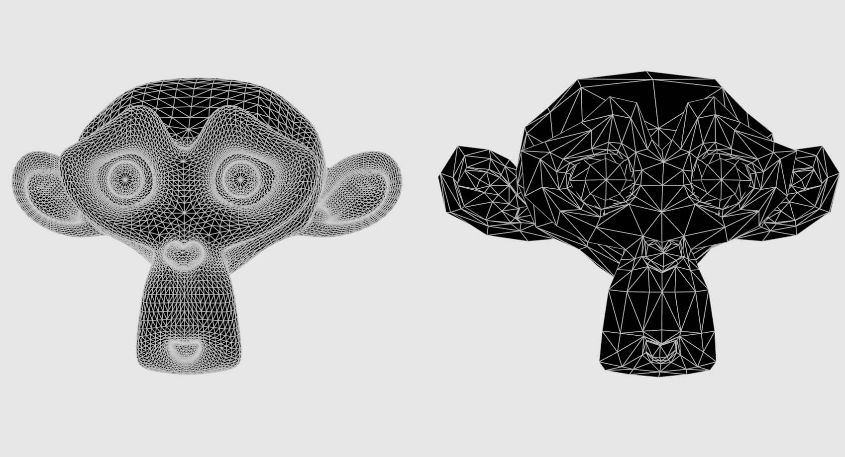 What is the difference between High Poly and Low Poly models in 3D modeling?