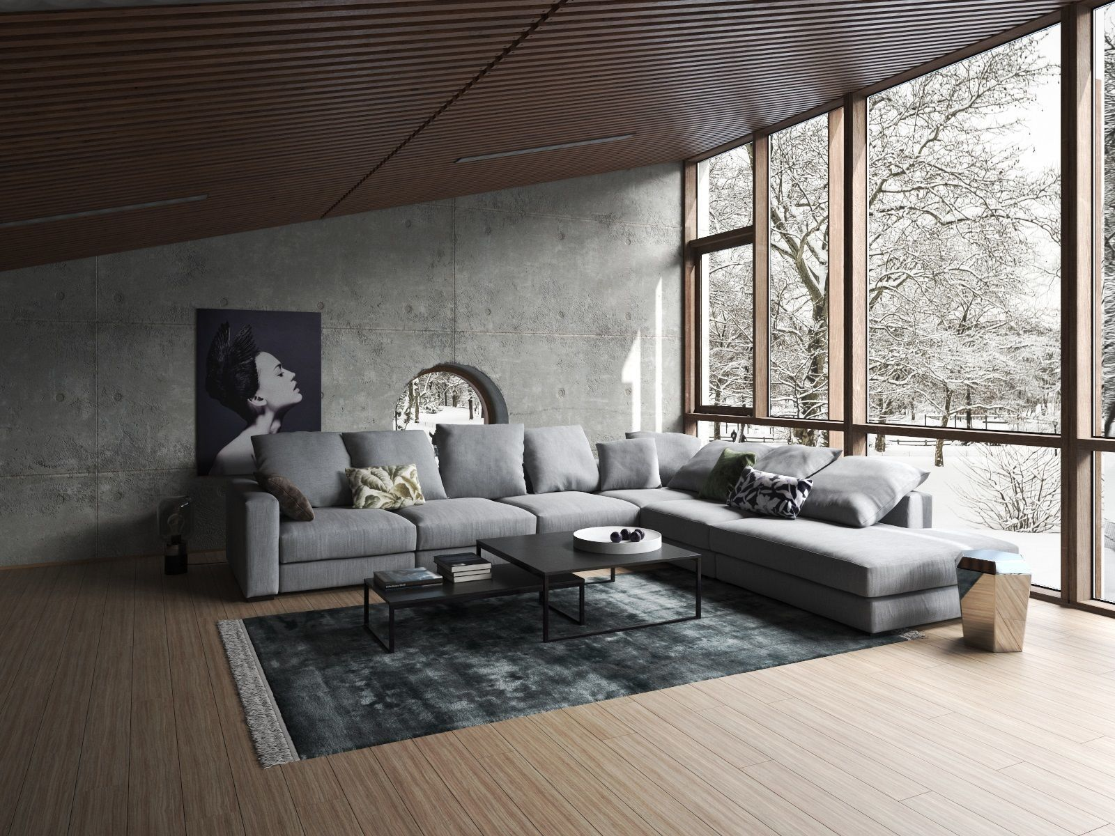 Cosy Industrial Living Room