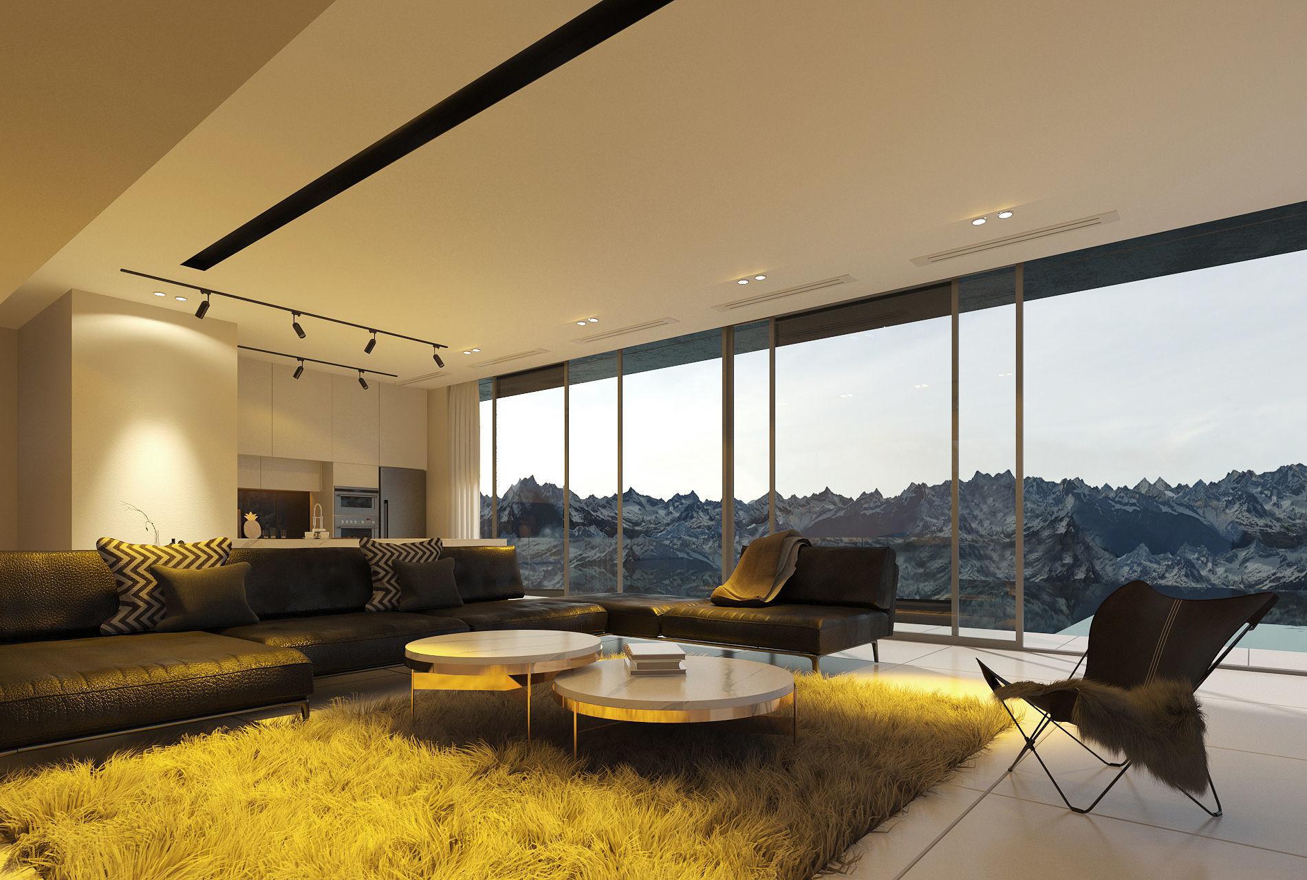 The First Crescent Villa Living Room