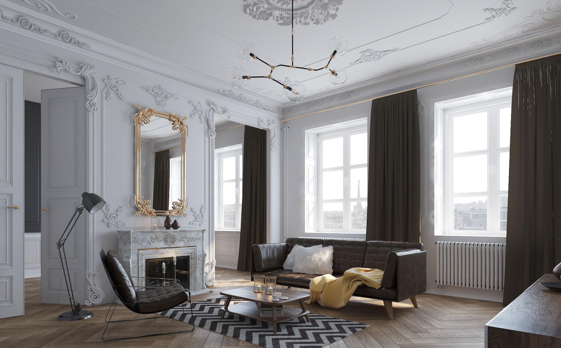 Paris Mid-Century Living room