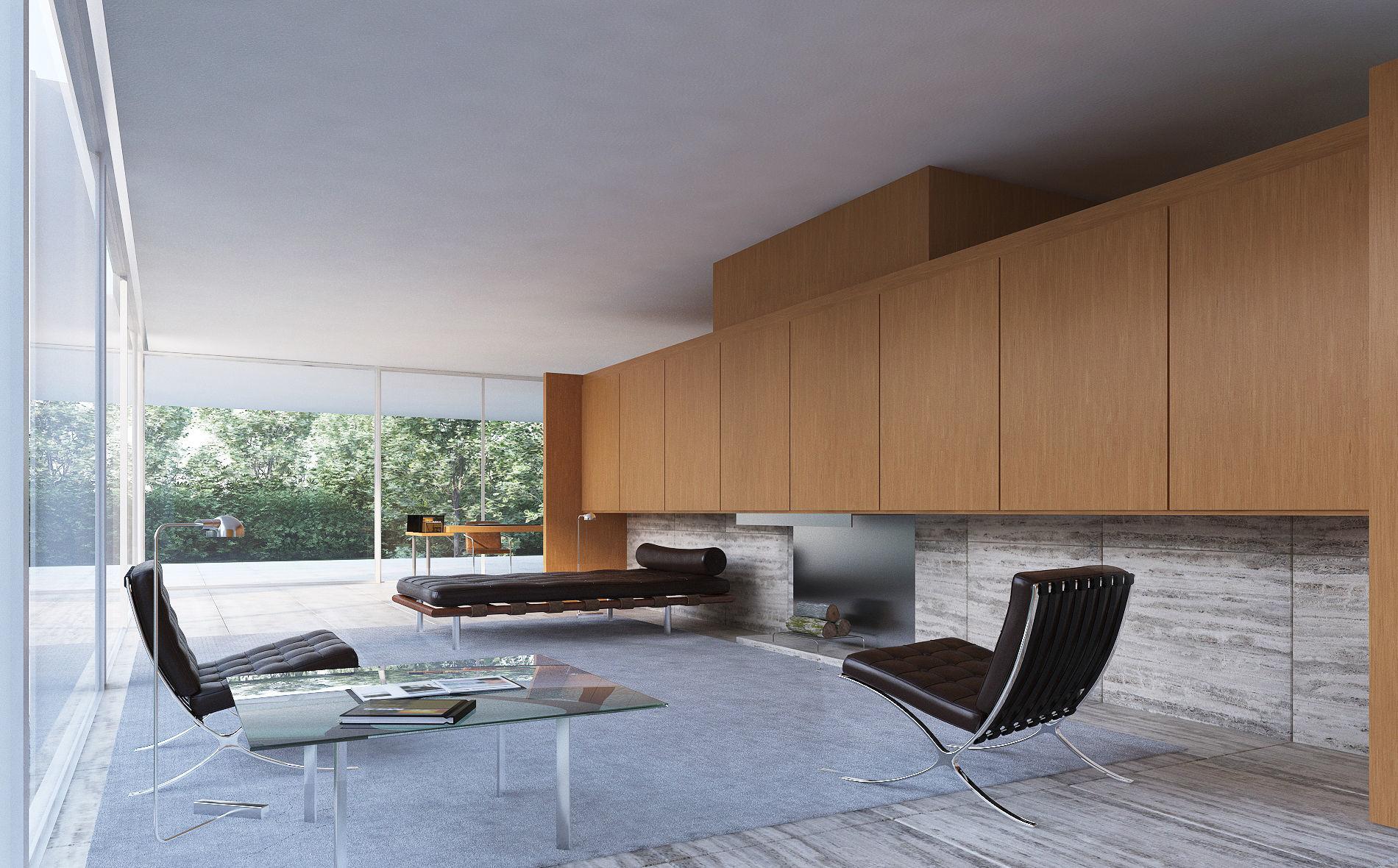 Farnsworth House Living Room