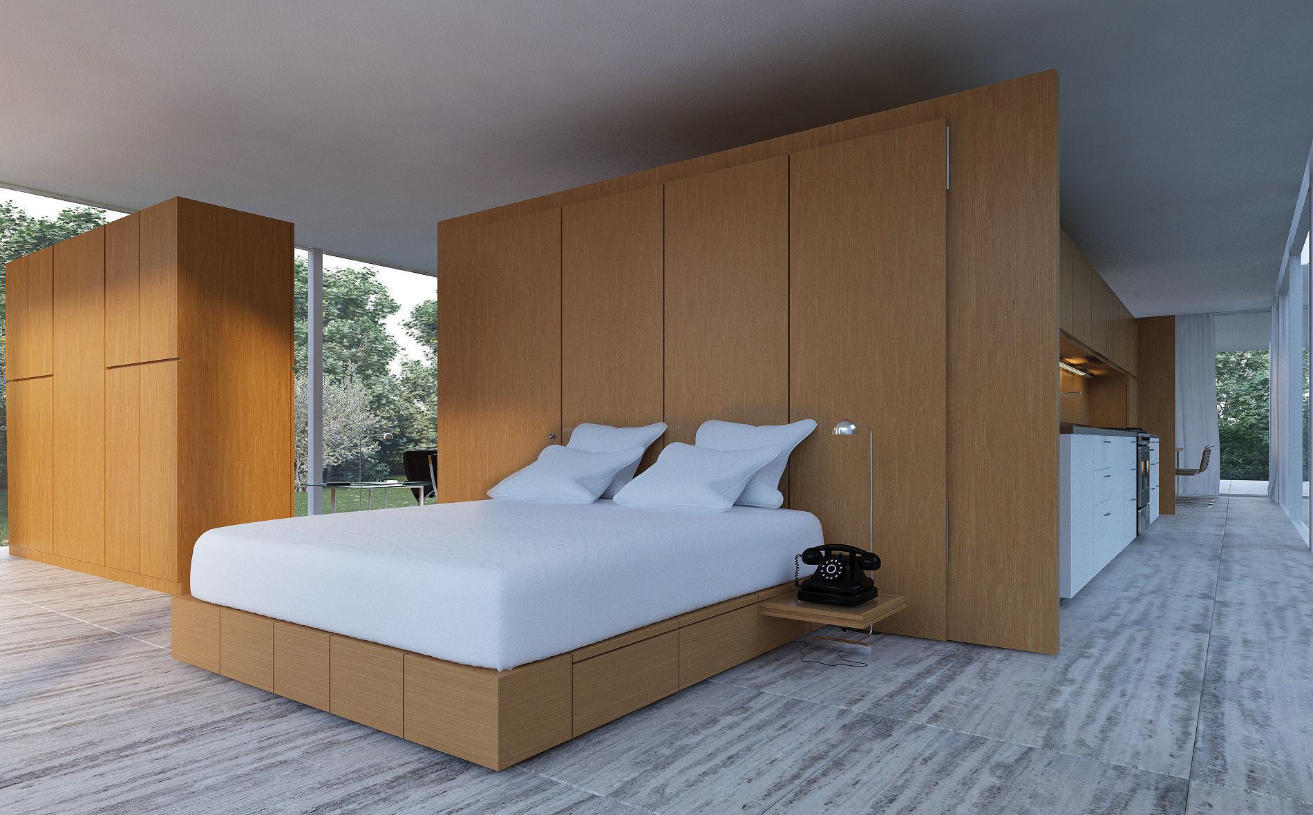 Farnsworth House Bedroom