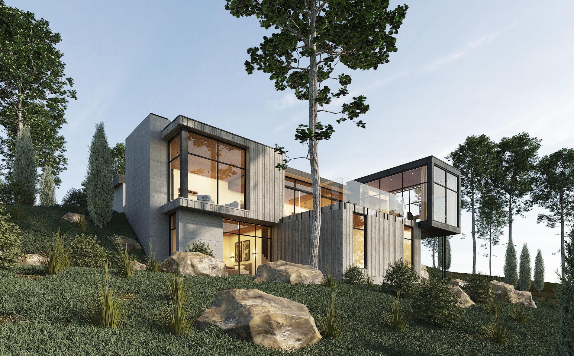 Long Horizontals House Exterior