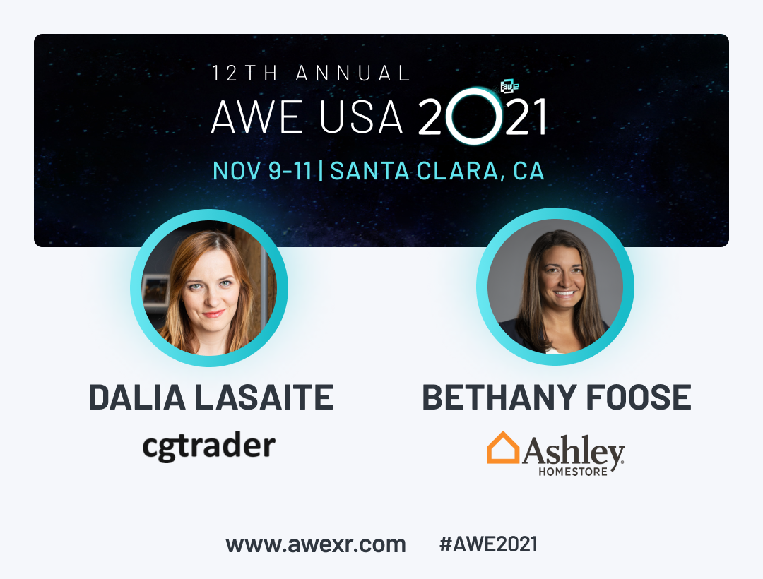 Ashley Furniture to join CGTrader at AWE 2021 to share lessons learned from converting thousands of products to 3D and AR