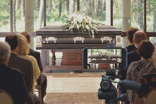 funeral live streaming service