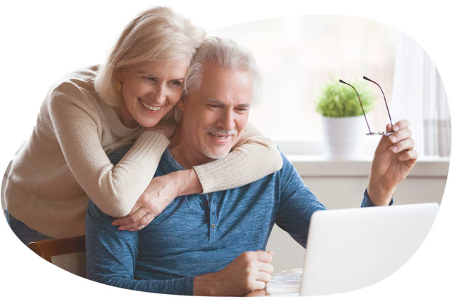 couple watching live stream