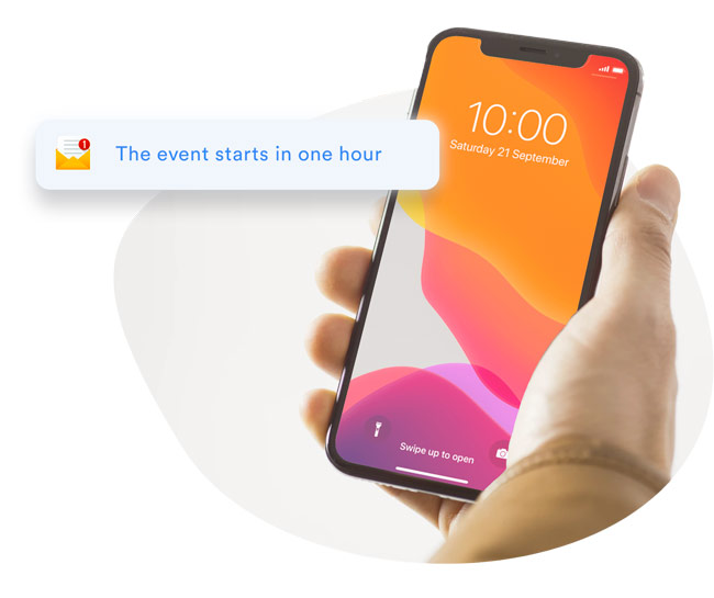 automatic email reminders for the live stream
