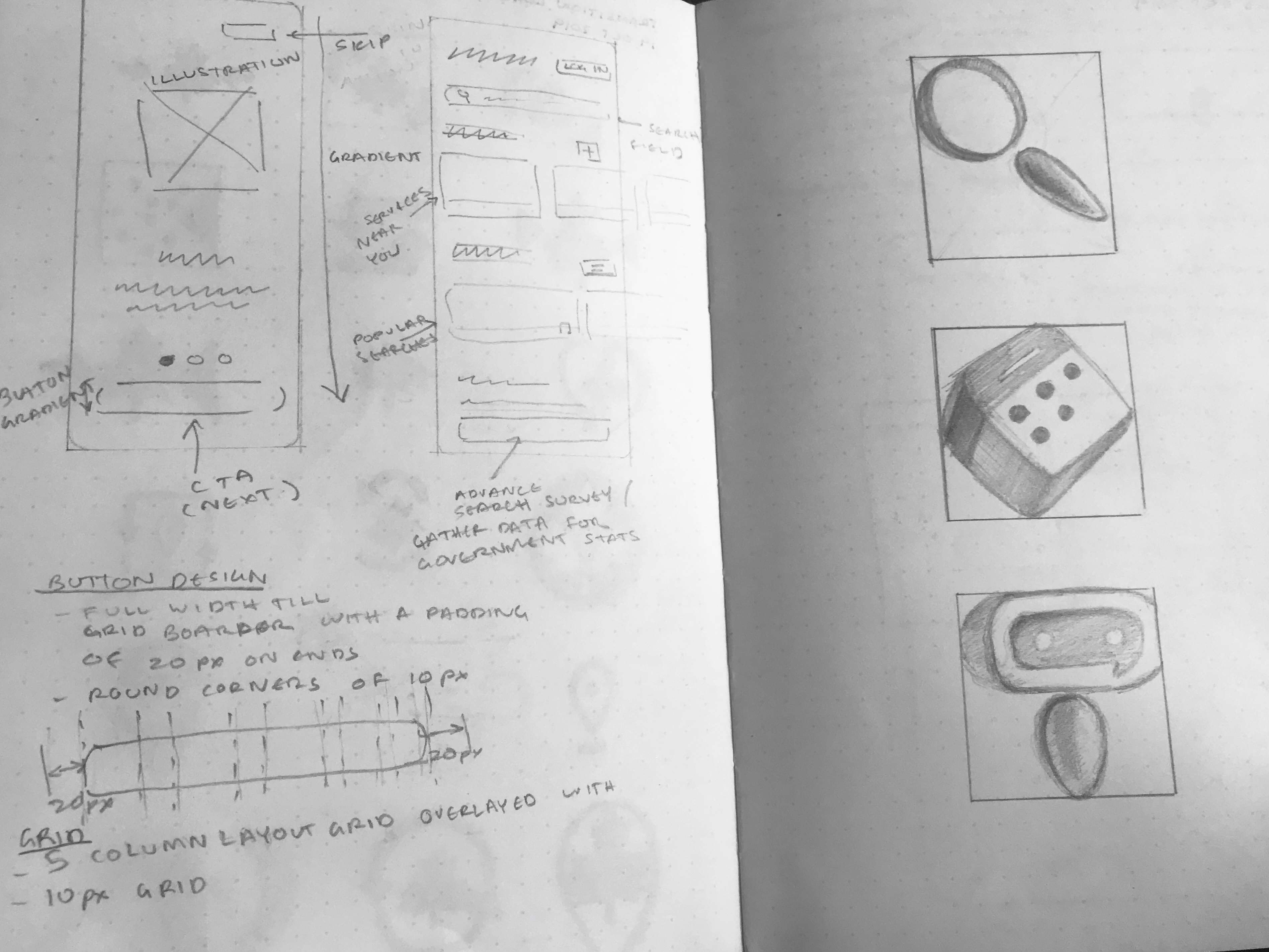 Wireframes and Sketches