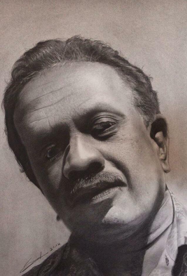 Dad's Portrait: Charcoal on Paper
