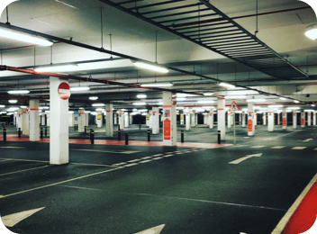 parking lots and garages