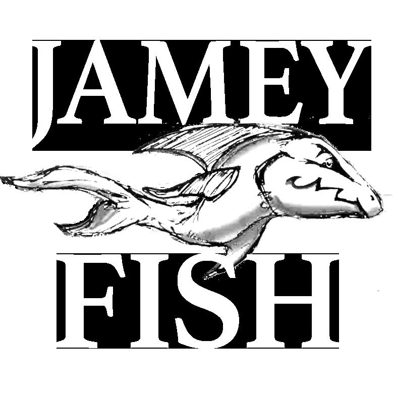 Jamey Fish logo B&W