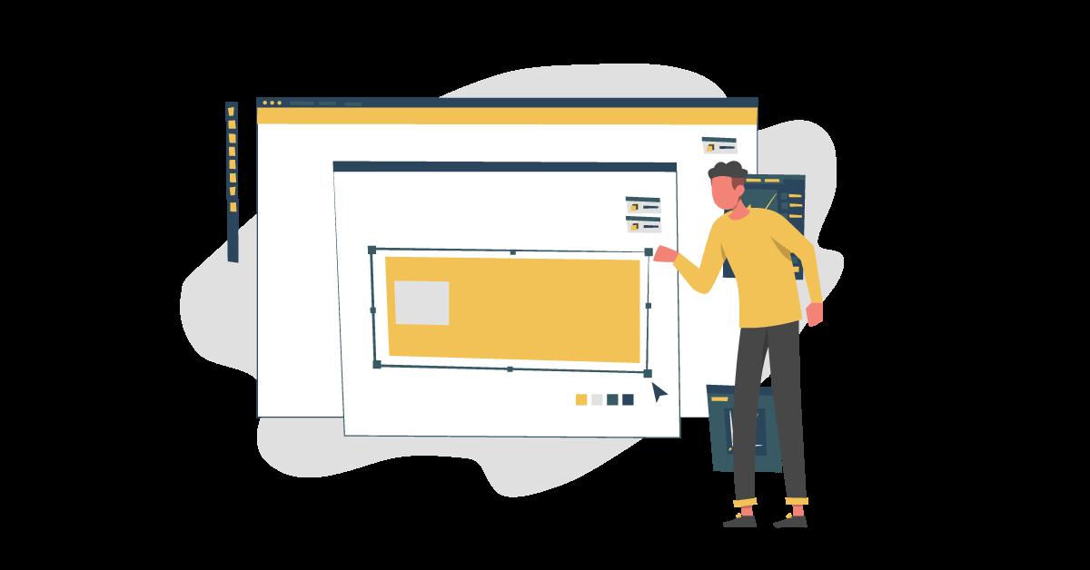 Man Designing website.