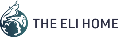 Eli Home Logo shows silhouette of a child surrounded by angel wings