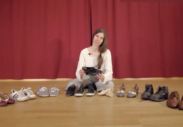 Tanz beginnt mit dem Schuh