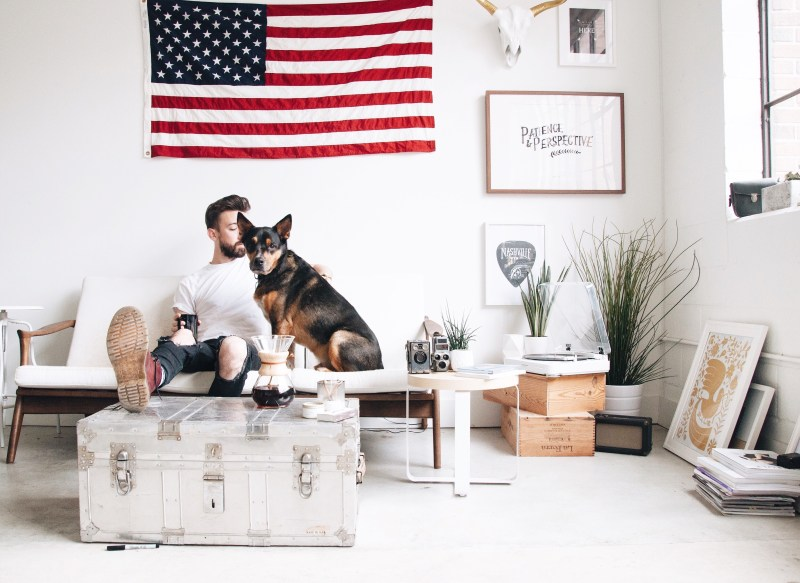 renter with dog
