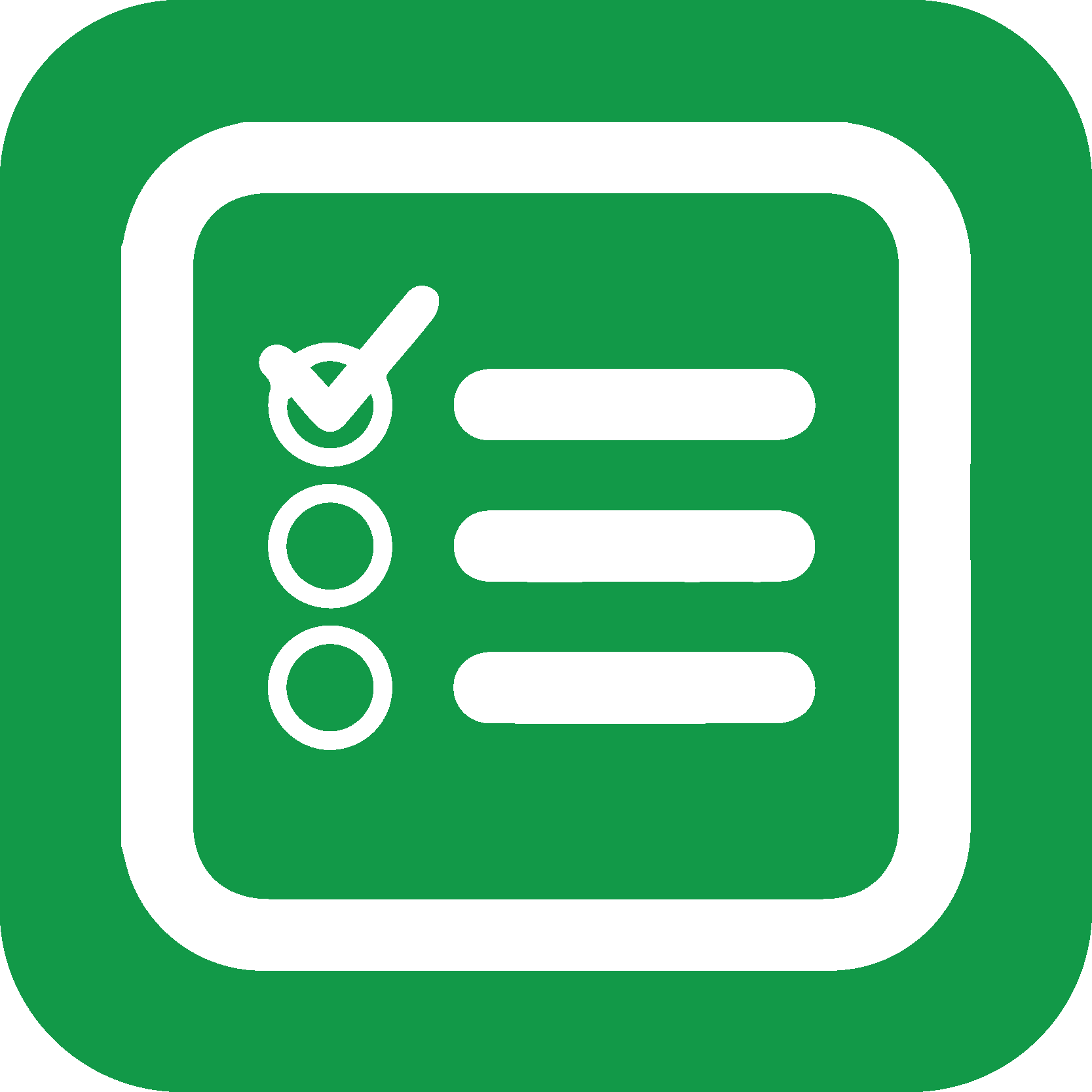 Tjekliste ikon grøn