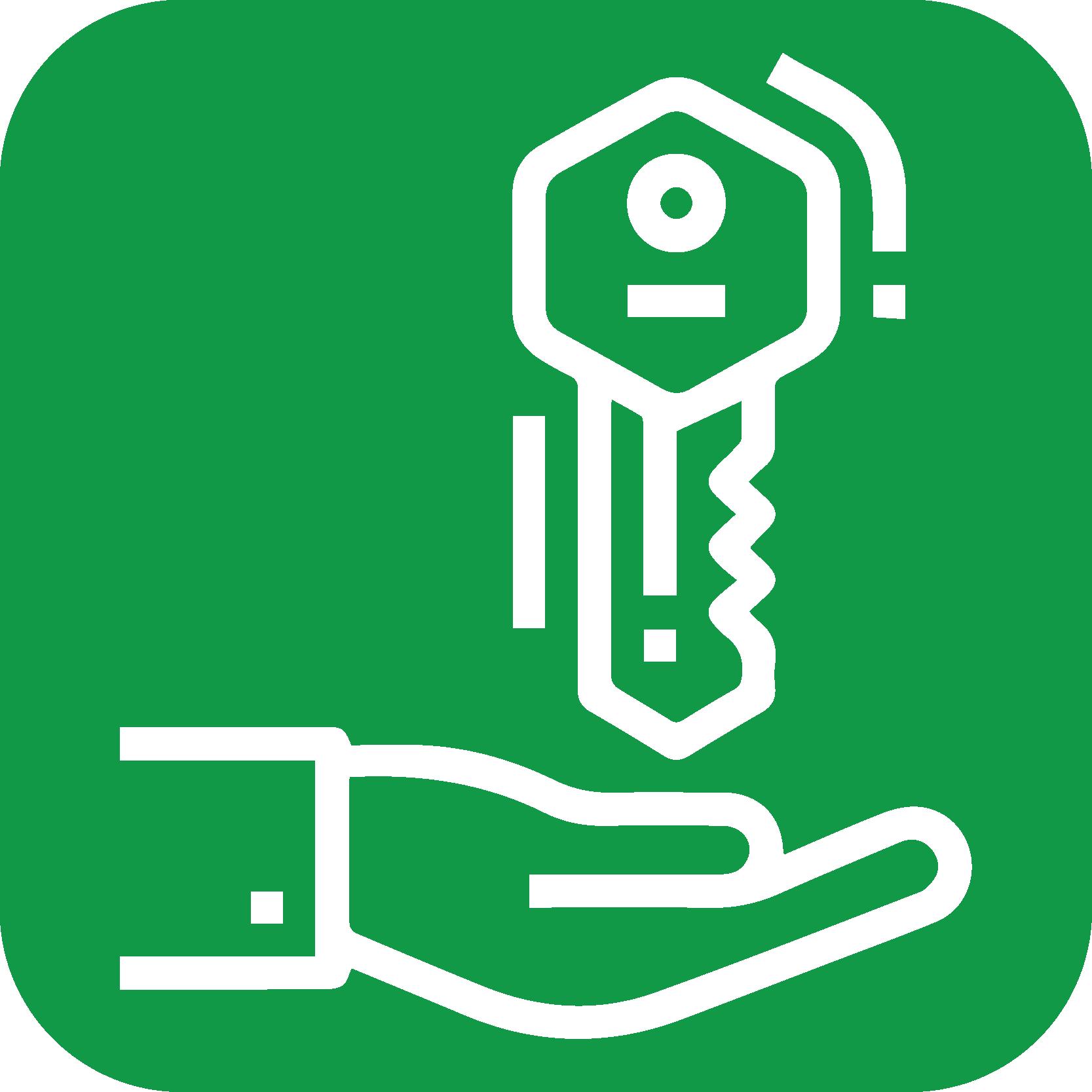 Hånd med nøgle