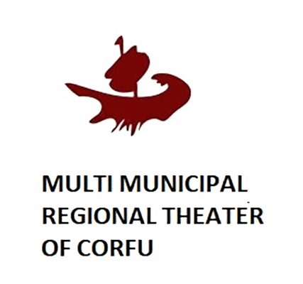the logo of the multi municipal regional theater of Corfu