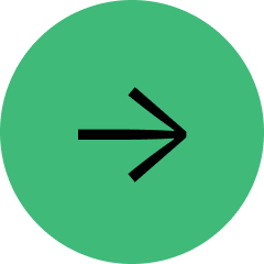 Medium sized green circle with a black arrow pointing right.