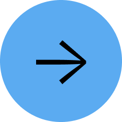 Medium sized blue circle with a black arrow pointing right.