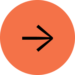 Medium sized red circle with a black arrow pointing right.