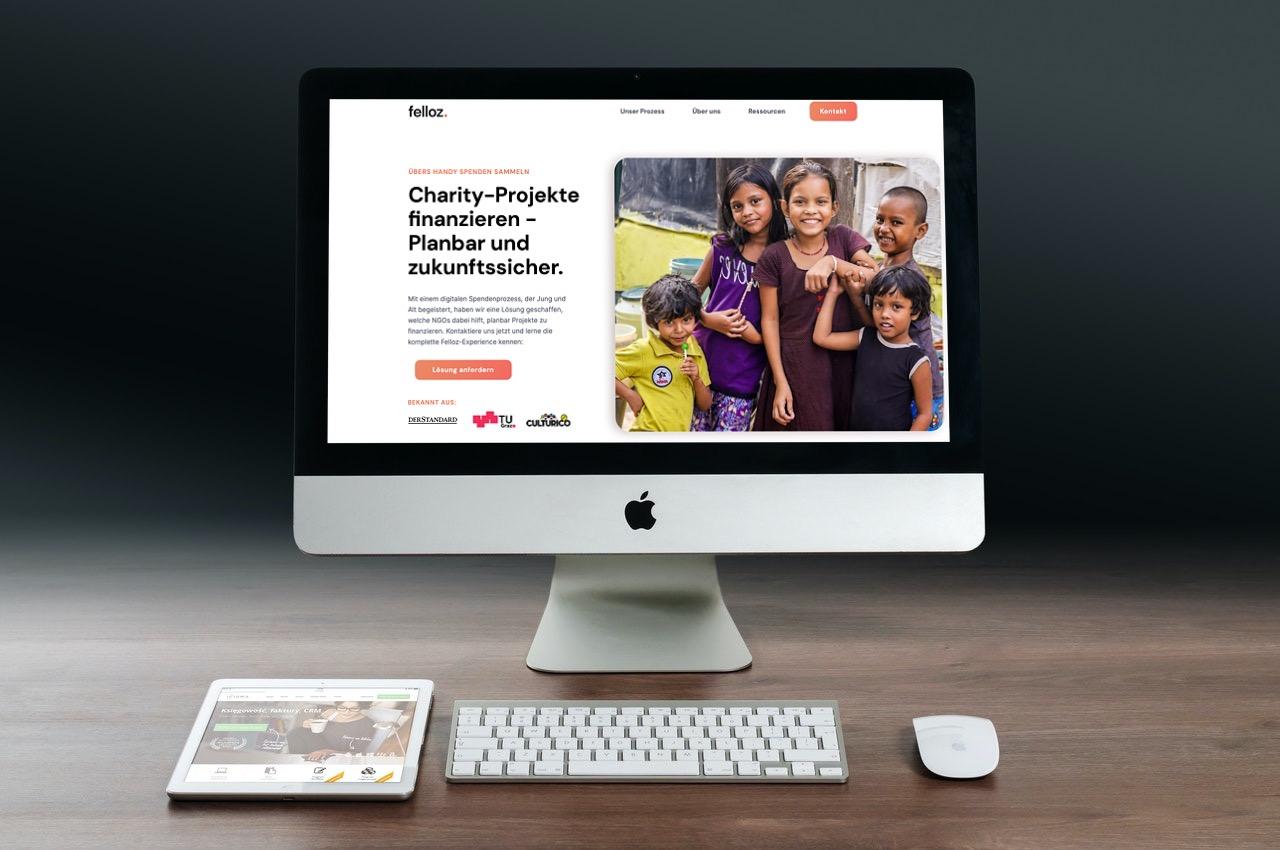 Desktop von Felloz Website