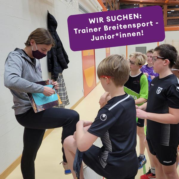 Wir suchen: Trainer Breitensport - Junior*innen!!!