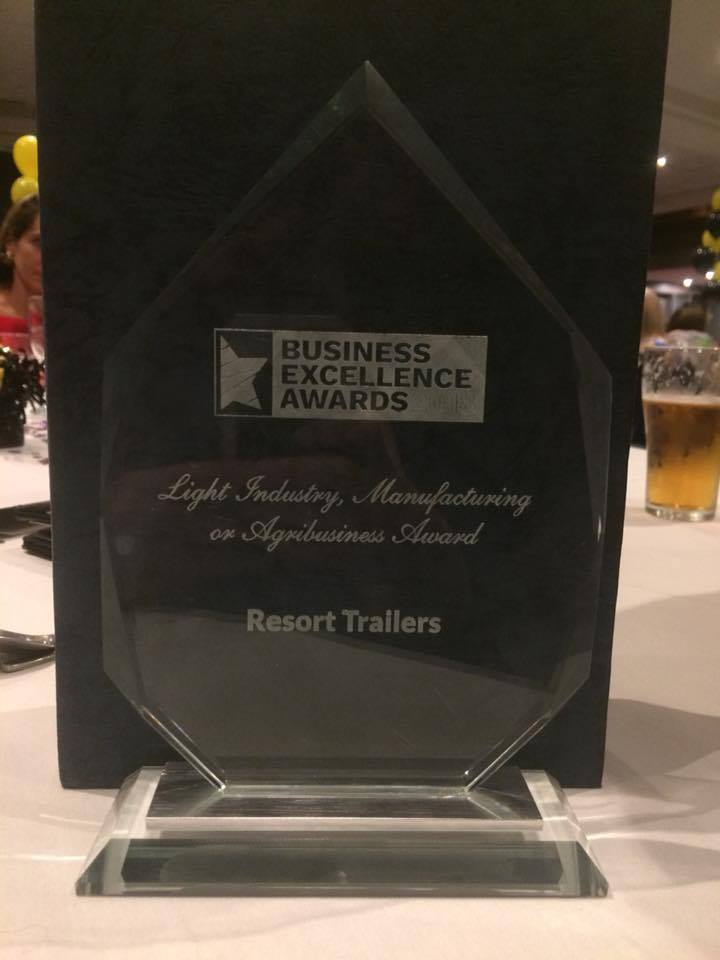 Business Excellence Award 2018 - Resort Trailers