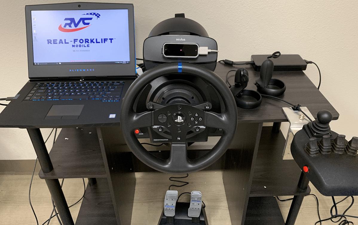 Real-Forklift Mobile Virtual Reality Forklift Simulator