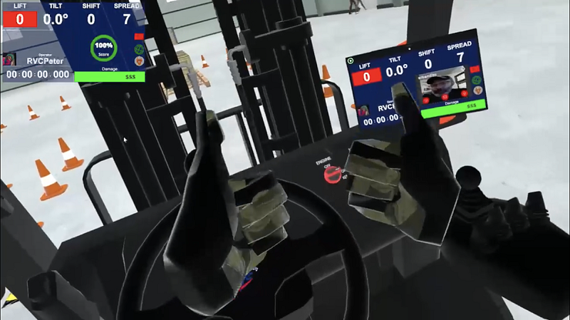 Zoom for Real-Forklift Virtual Reality Simulator