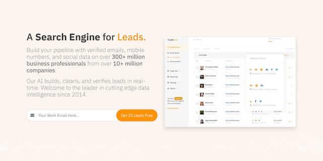 LeadFuze prospecting tool