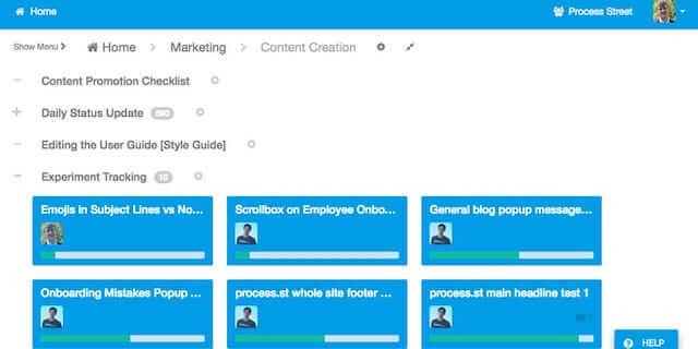 Process Street sales enablement tool