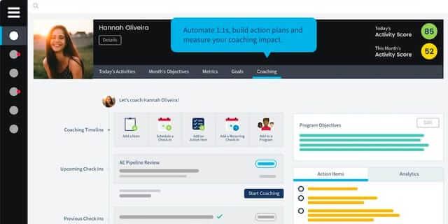 Ambition, remote sales team-building software