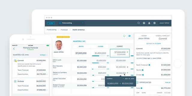 Clari, analytics for remote sales teams
