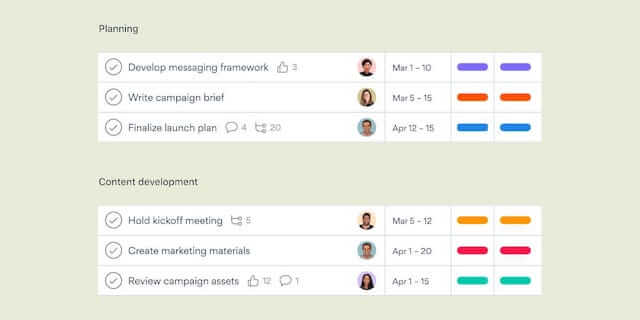 Asana for project management