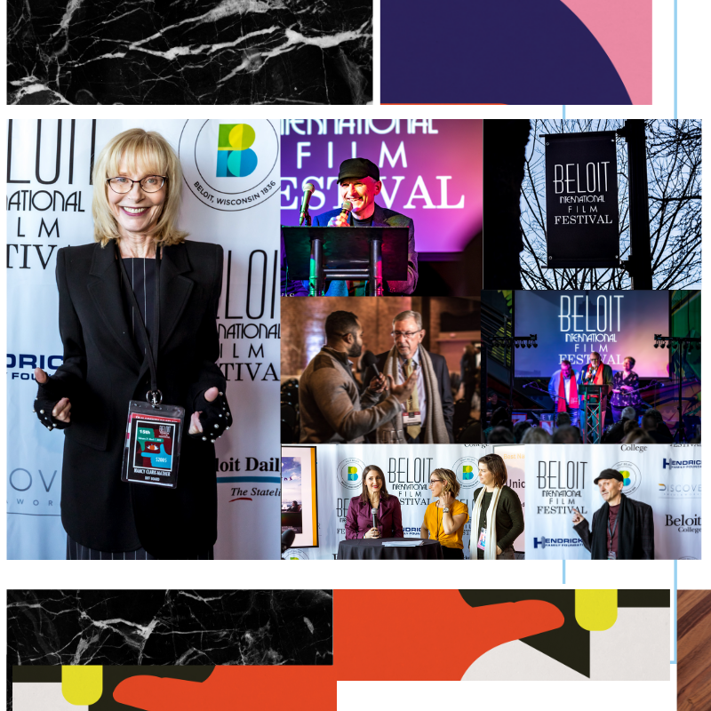 Photo spread created by Owl Street Studio for Beloit International Film Festival