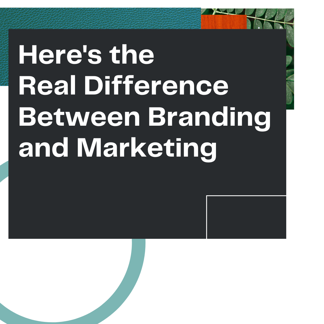 """Thumbnail image for Owl Street Studio's blog article, """"Here's the Real Difference Between Branding and Marketing"""""""