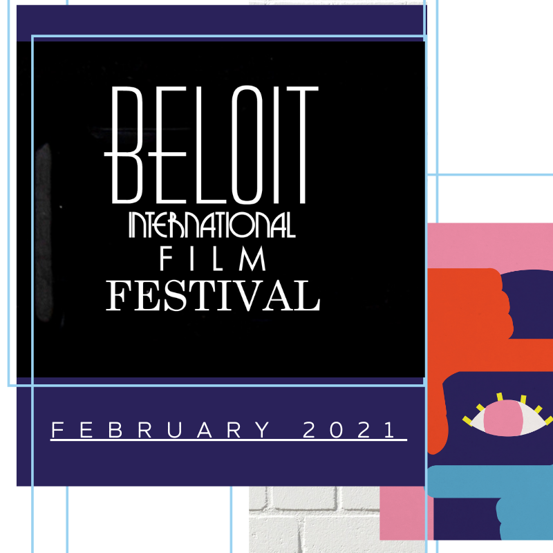 Logo cover created by Owl Street Studio for Beloit International Film Festival