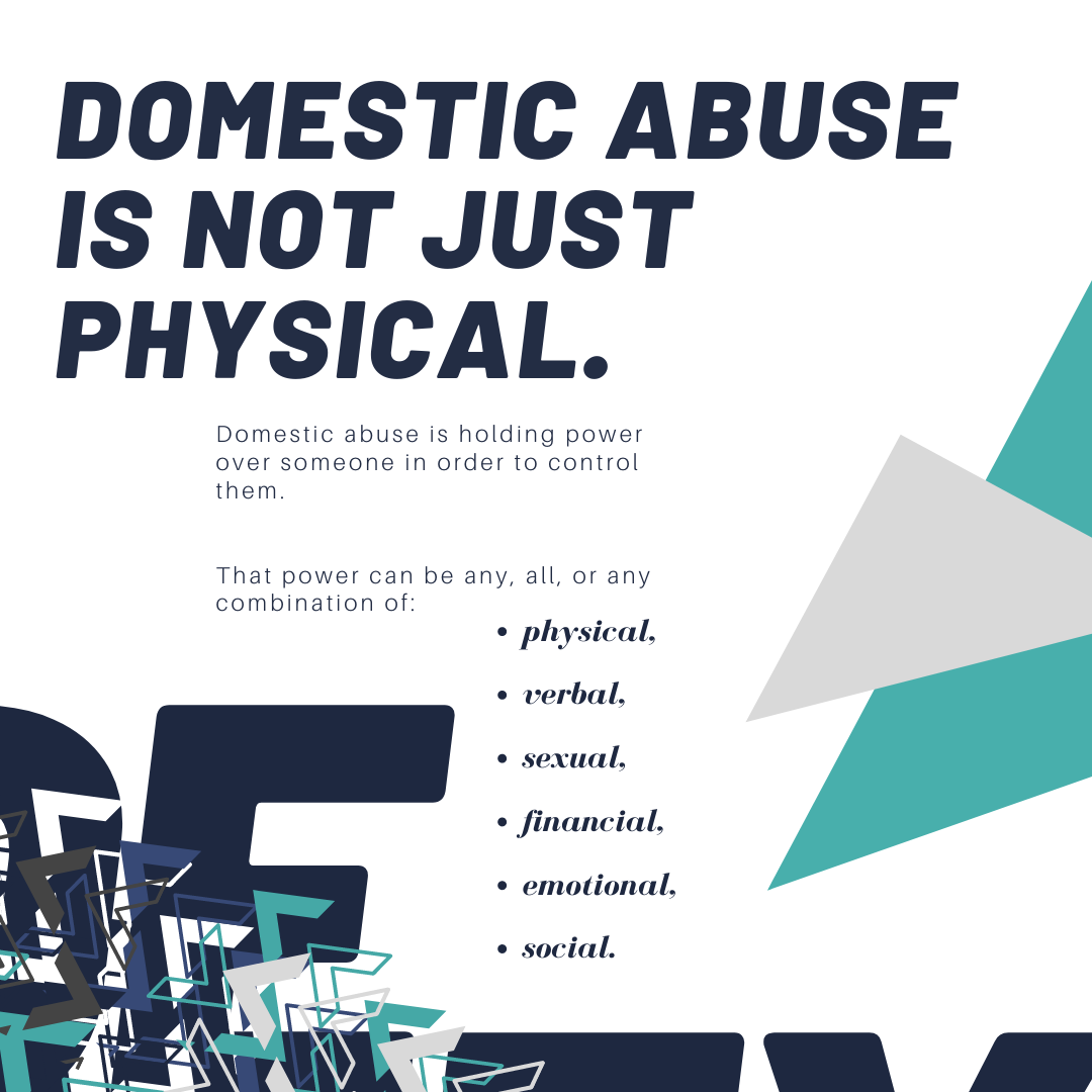 Excerpt of brochure created by Owl Street Studio for Defy Domestic Abuse Beloit